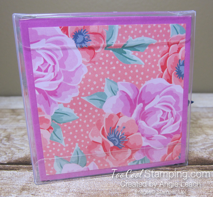 Flowers For Every Season 3x3 Acetate Treat Box - coral misty 4