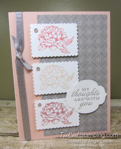 Prized Peony Postage Stamp Trio - petal