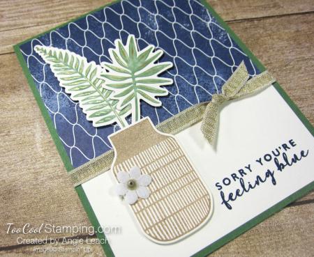 Boho indigo single planter - feeling blue 2