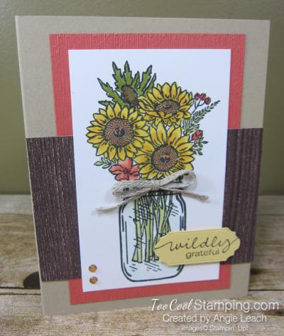 Jar of flowers wildly grateful - calypso coral 1