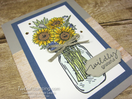 Jar of flowers wildly grateful - misty moonlight 2