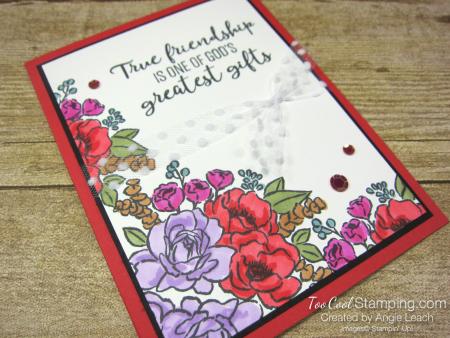 Jar of Flowers border cards - poppy 2