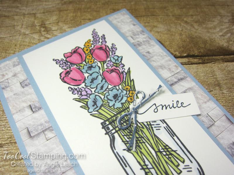 Jar of flowers front flap smile - seaside 2