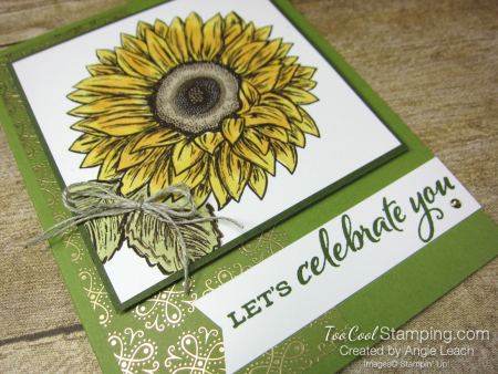 Celebrate Sunflowers Let's Celebrate You - olive 2