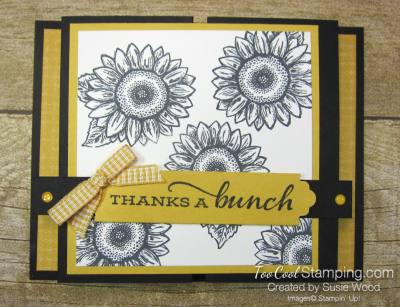 Celebrate Sunflowers Double Z Gate Fold - yellow 1