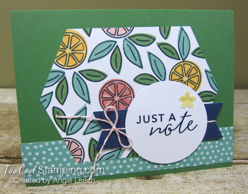 Simply citrus jade dots - just a note 1
