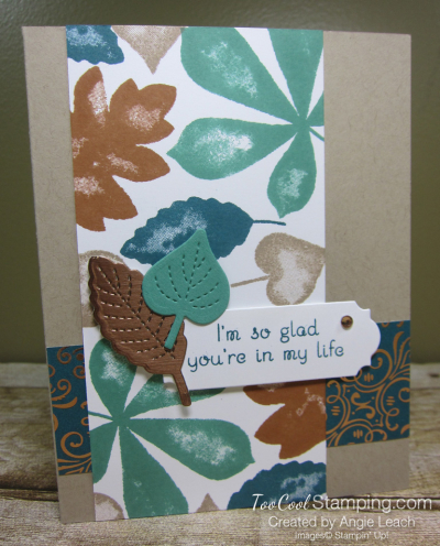 Love of leaves stamped panel - peacock 1