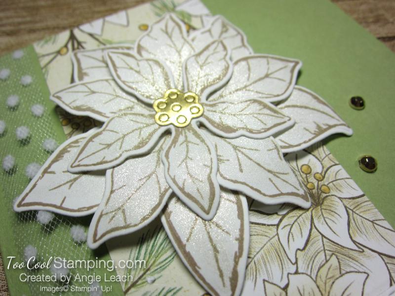Poinsettia Petals Warm Wishes cards - pear petals 2