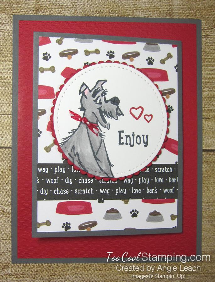 Playful pets z-fold gift card holders - dog 1