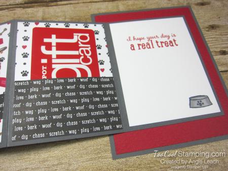 Playful pets z-fold gift card holders - dog 4