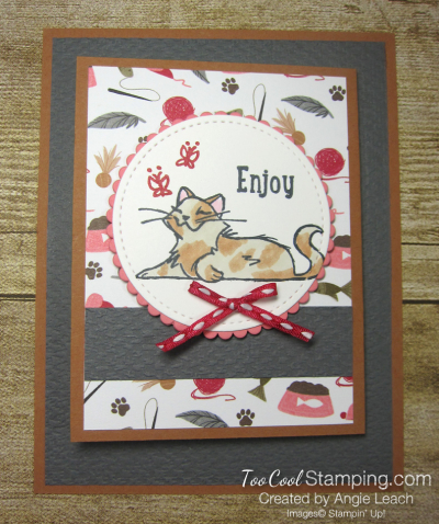 Playful pets z-fold gift card holders - cat 1