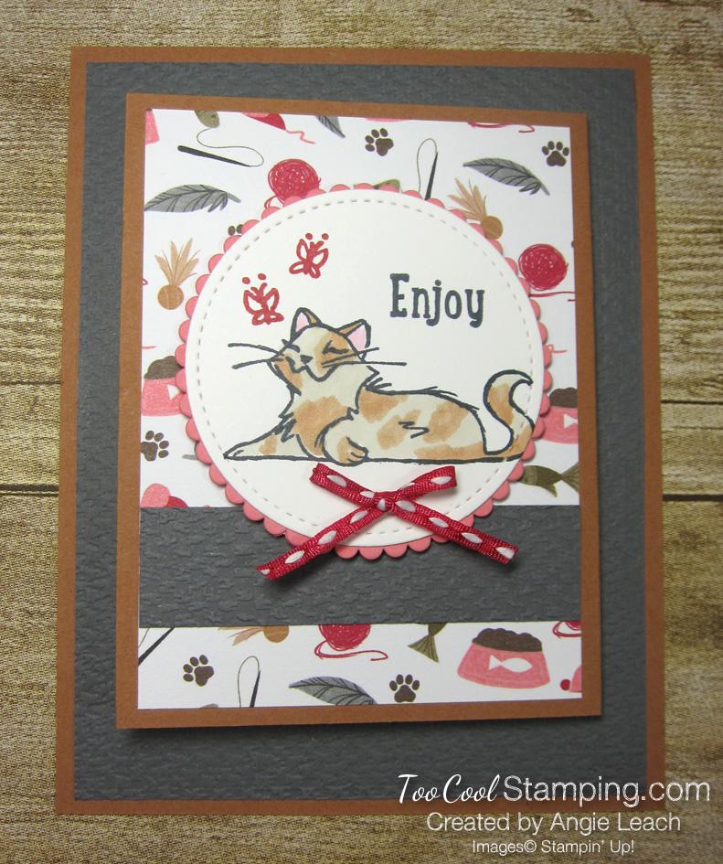 Playful pets z-fold gift card holders - cat 1