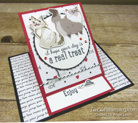 Playful pets real treat easel card - cat 2