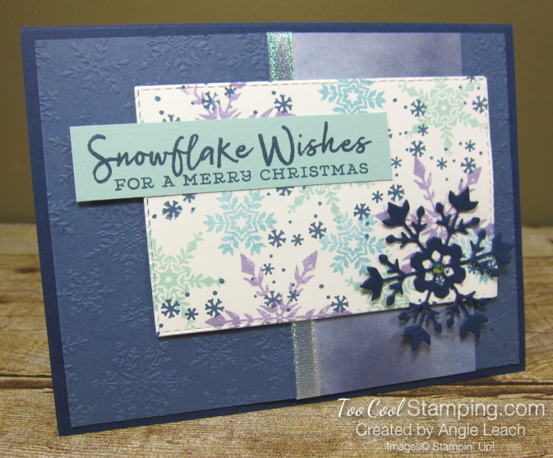 Snowflake Wishes For a Merry Christmas - navy 4
