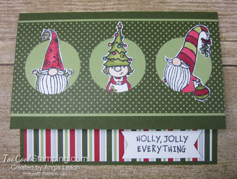 Gnome For The Holidays Peekaboo - mossy