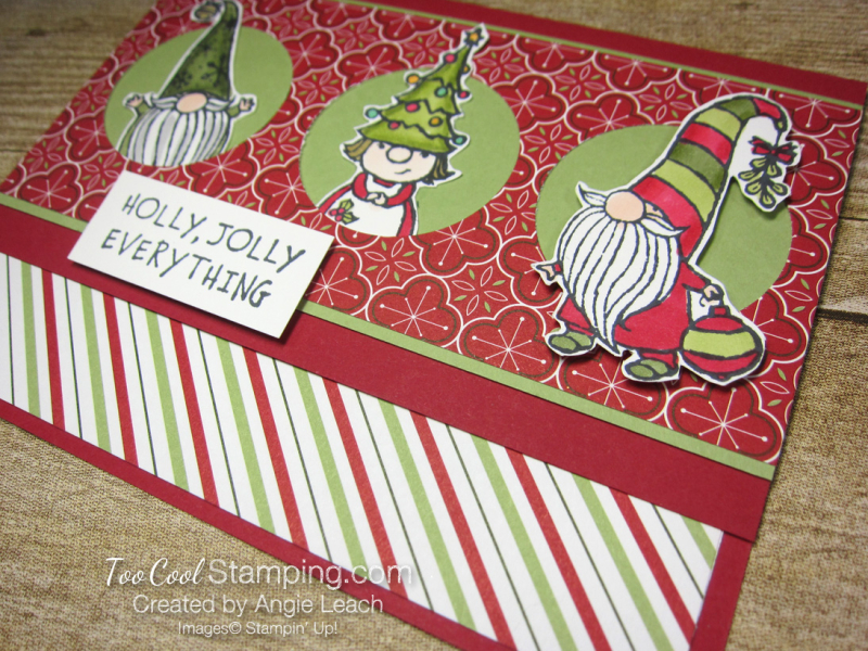 Gnome For The Holidays Peekaboo - red 3
