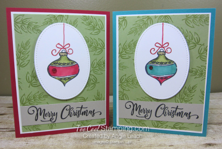 Tag Buffet Merry Christmas Ornament - two cool