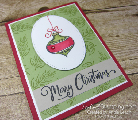 Tag Buffet Merry Christmas Ornament - red 2