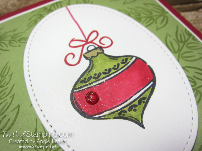 Tag Buffet Merry Christmas Ornament - red 3