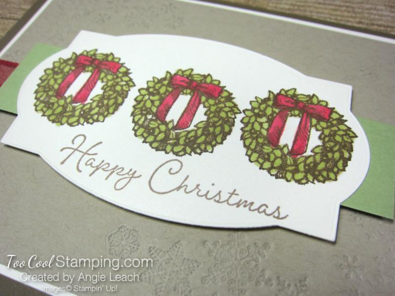 Snow wonder wreath happy christmas - suede 2