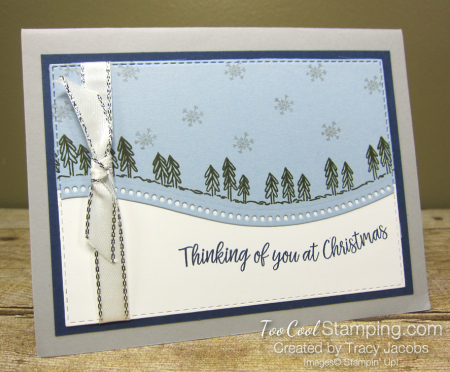 Curvy Christmas Blue Card - Jacobs