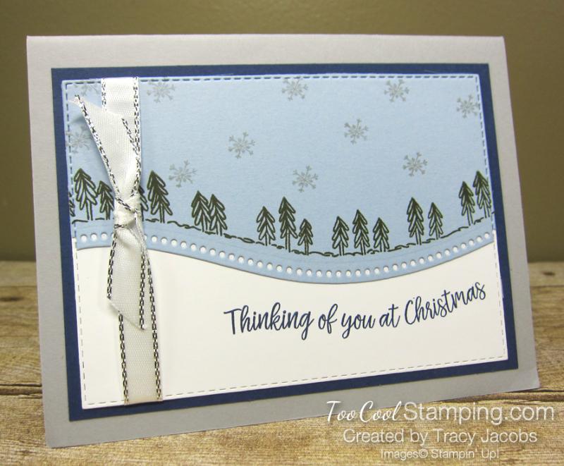 Curvy Christmas Blue Card - Jacobs