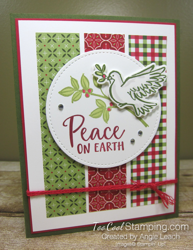 Dove of hope peace on earth strips - red
