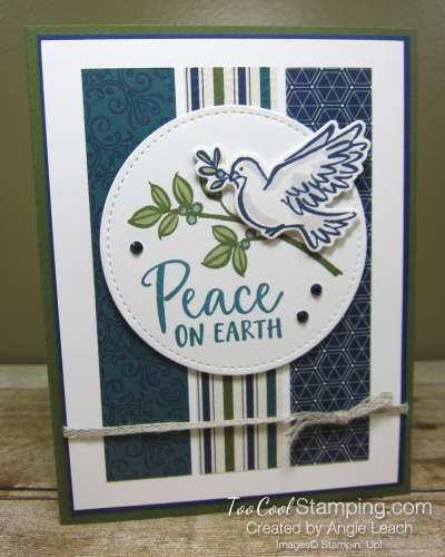 Dove of hope peace on earth strips - blues