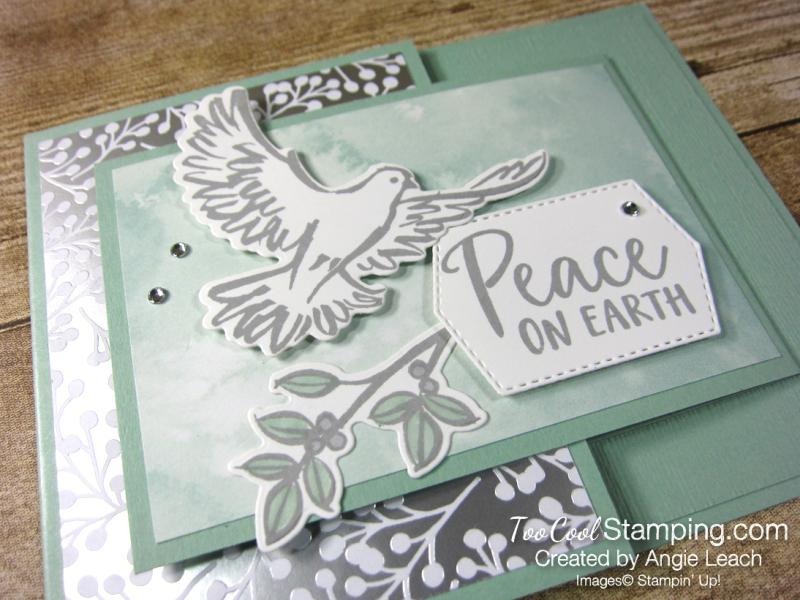 Dove of hope joy fold - mint 2