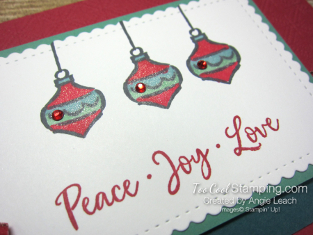 Dove of hope ornament trio - red 3