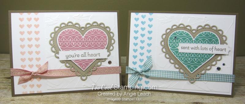 Lots of Heart mini heart border - two cool