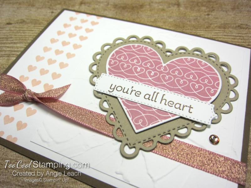 Lots of Heart mini heart border - rose 2