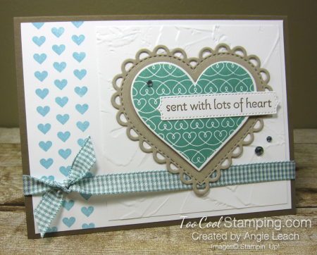 Lots of Heart mini heart border - jade