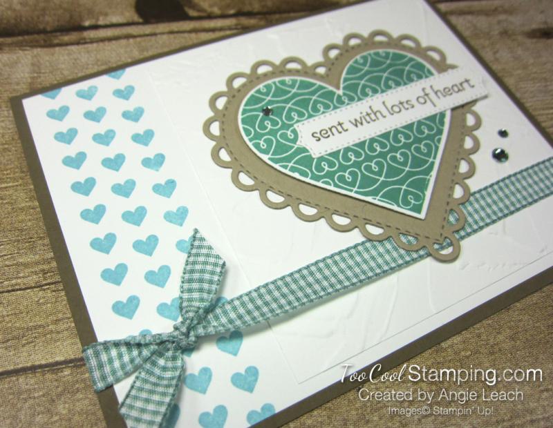 Lots of Heart mini heart border - jade 2