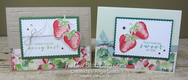 Sweet strawberry pair - two cool