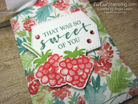Delightful tag topper pouch - spruce 2