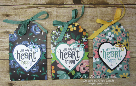 Delightful tag topper pouch - flower three cool