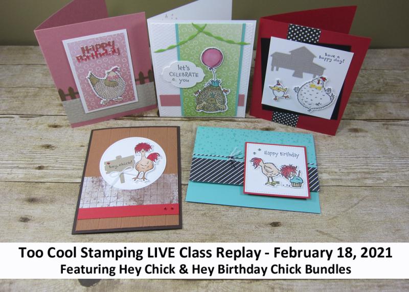 Hey chick & birthday chick live class banner