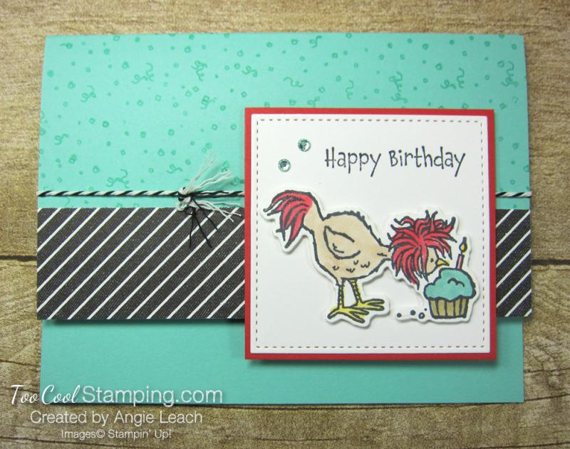 Hey birthday chick cupcake 1