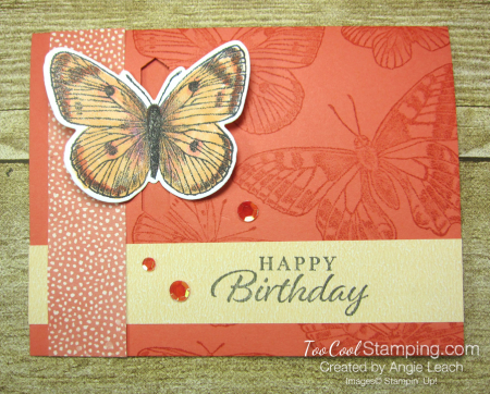 Butterfly Brilliance Emerging Butterfly Cards - coral