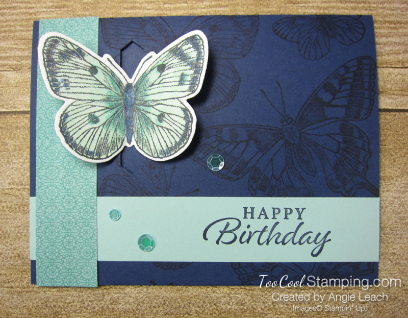 Butterfly Brilliance Emerging Butterfly Cards - navy