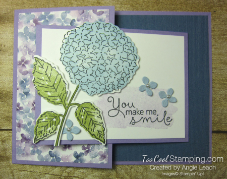 Hydrangea Haven joy fold smile - misty