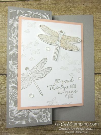 Dragonfly garden z-fold - peony 1