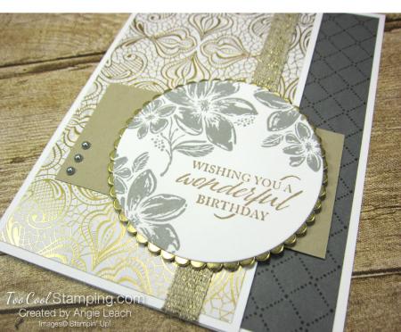 Simply elegant wonderful birthday - gold 2