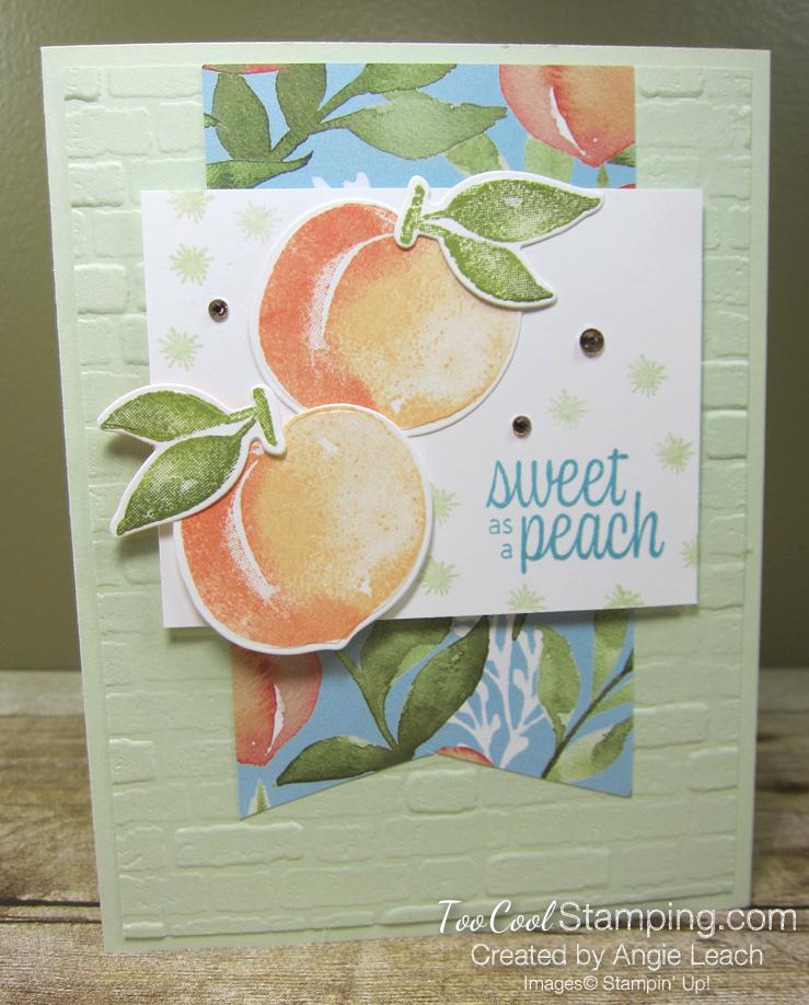 Sweet As A Peach Banner Cards - peaches 1