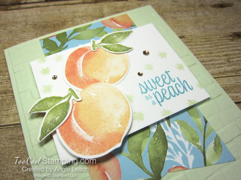 Sweet As A Peach Banner Cards - peaches 2