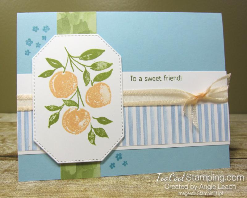 Sweet As A Peach simple stamped trio - peaches 1