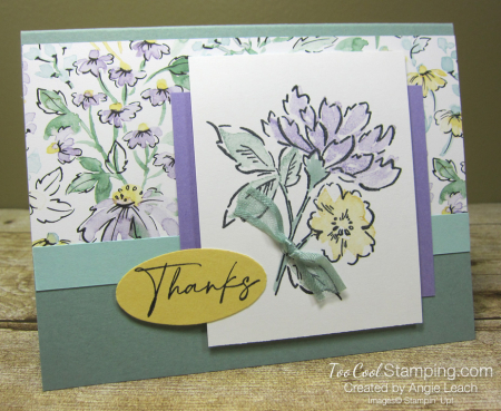 Hand Penned Stamped Bouquet - succulent 1