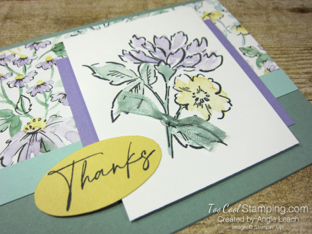 Hand Penned Stamped Bouquet - succulent 2