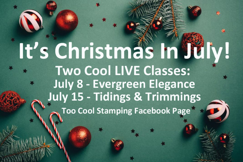 Christmas In July LIVE Classes Banner